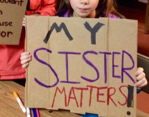 My daughters at a Youth Rally in Portland, Oregon #blacklivesmatter